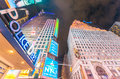 NEW YORK CITY - JUNE 8, 2013: NYPD street sign in Times Square. Royalty Free Stock Photo
