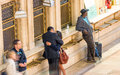 NEW YORK CITY - JUNE 10, 2013: People at Grand Central terminal Royalty Free Stock Photo