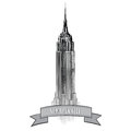 New york city label vector usa landscape hand drawn sketch illustration symbol travel sign manhattan skyline with empire state Stock Photos