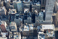 New York City Manhattan aerial view with buildings roof tops Royalty Free Stock Photo