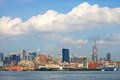 New york city manhattan buildings view skyline panorama of lower downtown business district Royalty Free Stock Image