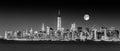 New York City Manhattan downtown skyline Royalty Free Stock Photo