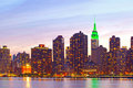 New York City, Manhattan famous landmark buildings Royalty Free Stock Photo