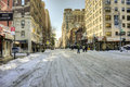 New york city manhattan lexington ave after snow storm Royalty Free Stock Images