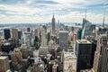 New York City manhattan midtown buildings skyline Royalty Free Stock Photo