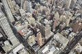 New york city manhattan skyline aerial view of from the empire state building usa Royalty Free Stock Photo
