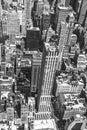 New York City Manhattan skyline aerial view Royalty Free Stock Photo