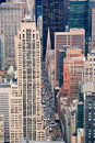 New York City Manhattan street aerial view Royalty Free Stock Photography