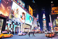 New York City Manhattan Time Square night Royalty Free Stock Photos