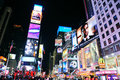New York City Manhattan Time Square night Stock Photo
