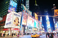 New York City Manhattan Time Square night Royalty Free Stock Image