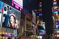 New york city manhattan time square night times is featured with broadway theaters and led signs as a symbol of and the united Royalty Free Stock Photo