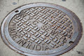 New York City manhole cover Royalty Free Stock Photo