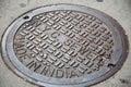 New York City manhole cover Royalty Free Stock Photo