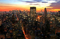 New York City midtown skyline Royalty Free Stock Photo
