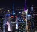 New York City at night Royalty Free Stock Photo