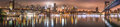 New York City, night panorama, Brooklyn Bridge Royalty Free Stock Photo
