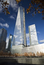 New york city november freedom tower i Arkivfoton