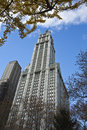 New york city november woolworth building new york c usa Stock Photo
