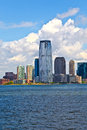 New York City panorama with Manhattan Skyline over Hudson Royalty Free Stock Photo