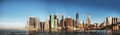 New york city panorama in the morning early Royalty Free Stock Images