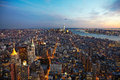 New York City Panorama at night. Manhattan at night. Royalty Free Stock Photo
