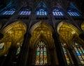 New York City Saint Patricks Cathedral Gothic Interior Windows Royalty Free Stock Photo