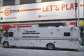 New york city sanitation department mobile command center during super bowl xlviii week near times square january in Stock Images