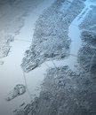 New York city satellite map view Royalty Free Stock Photo