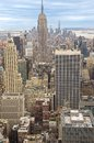 New york city scenic view skyline aerial Royalty Free Stock Photo
