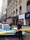 New York City shooting at 34th street Royalty Free Stock Image