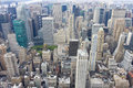 New york city skyline aerial view manhattan usa from empire state building Stock Images