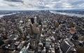New York city skyline Downtown Manhattan Royalty Free Stock Photo