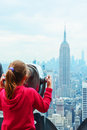 New York City Skyline - Midtown and Empire State Building, view from Rockefeller Center Royalty Free Stock Photo