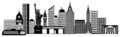 New York City Skyline Panorama Clip Art Royalty Free Stock Image