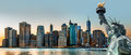 New York City skyline panorama Royalty Free Stock Photo