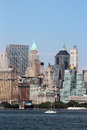 New york city skyline a view of the from the water Royalty Free Stock Image