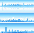 New York City skylines Stock Image