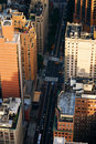 New York City street aerial view Royalty Free Stock Photos
