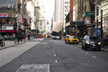 New York City Streets Manhattan Royalty Free Stock Photo