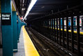 New York City Subway Station Royalty Free Stock Photo