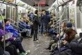 New York City Subway Train Royalty Free Stock Photo