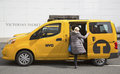 New york city taxi april on april the nissan nv was designed specifically for use as a in and was Royalty Free Stock Photography