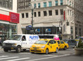 New york city taxi i manhattan Royaltyfri Bild