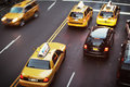 New York City taxicabs Royalty Free Stock Photo