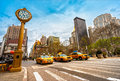 New york city taxis july yellow on th avenue on july in usa th avenue is a central road of manhattan the most expensive shops Stock Image