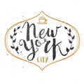 New York City Template Hand Drawn Calligraphy Pen Brush Vector