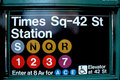 New York City Times Square Subway Royalty Free Stock Images