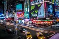 New York City Traffic in Time Square Royalty Free Stock Photo