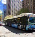 New York City Transit Bus Royalty Free Stock Photo